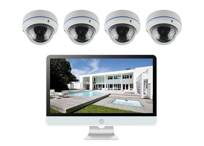 "مقاوم للماء 4 Ch IP PoE IP Camera Kit 1/3 ""CMOS Sensor Cortex - A7 HI3516D"